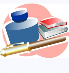 Study equipments vector