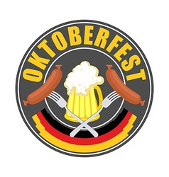Oktoberfest logo - traditional annual beer vector