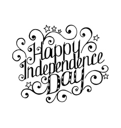 Happy independence day lettering with beautiful vector