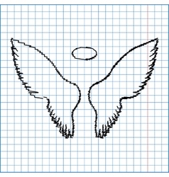 Wings sign flat style icon vector