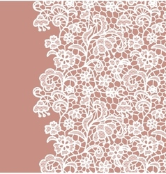 Seamless lace border invitation card vector