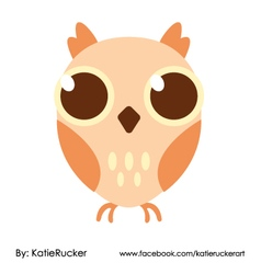 Big eyes owl vector