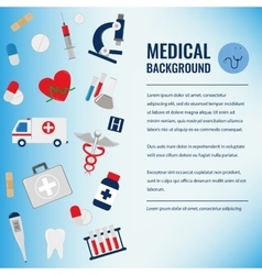 Medical background template vector