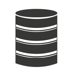 Hard disk storage icon vector