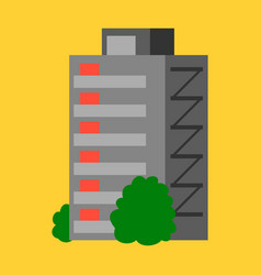 a modern multi-storey building with a complex vector image vector image