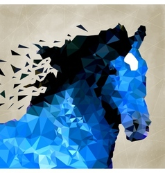 Abstract horse of geometric shape symbol vector image