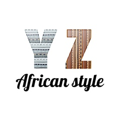 Alphabet african style vector
