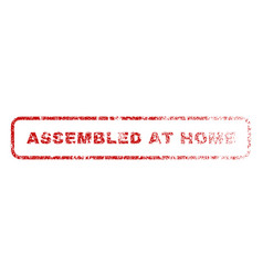 Assembled at home rubber stamp vector
