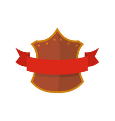 badge king icon flat style vector image vector image