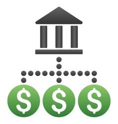 Bank transactions gradient icon vector