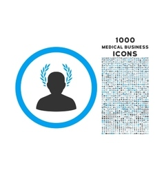 Caesar rounded icon with 1000 bonus icons vector