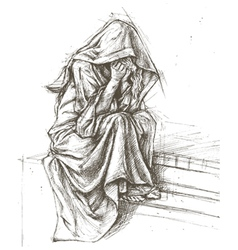 Cemetery Angel vector image