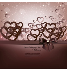 Elegant background with paper hearts and copy vector image