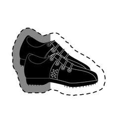 Golf shoes isolated icon vector