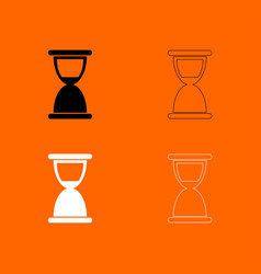 hourglass black and white set icon vector image vector image