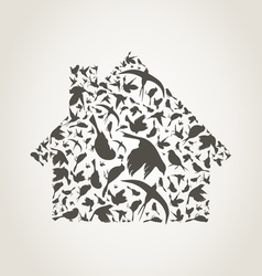 House a bird vector