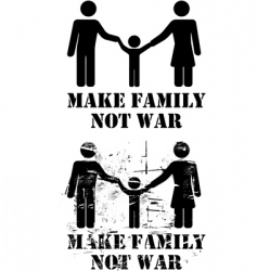 make family not war vector image vector image