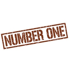 number one stamp vector image