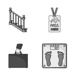 Office finance and other monochrome icon in vector