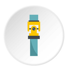 One gear icon circle vector