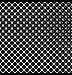 Ornamental seamless pattern crosses squares vector