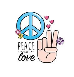 Peace and love symbol and global spirit vector