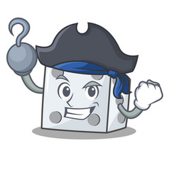 Pirate dice character cartoon style vector