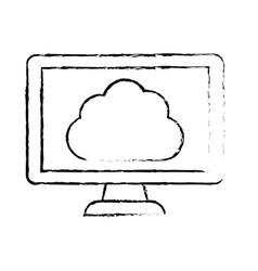 Silhouette optimization database icon image design vector