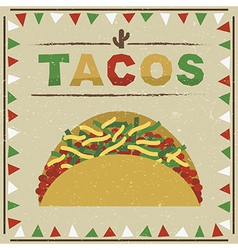Taco decoration vector