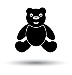 teddy bear ico vector image