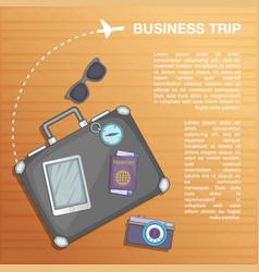 Travel concept plan cartoon style vector