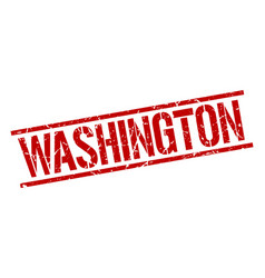 Washington red square stamp vector