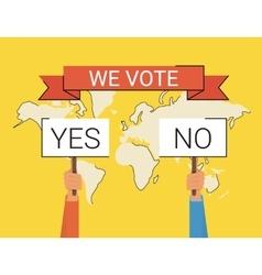 We vote vector image