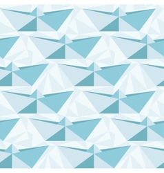 Seamless geometric pattern with origami boats vector image