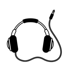 headset audio device icon vector image