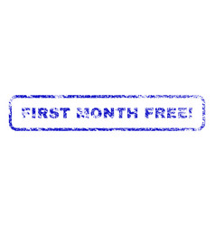 first month free exclamation rubber stamp vector image