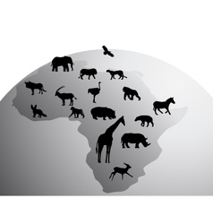 africa animals vector image