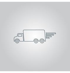 delivery sign icon vector image