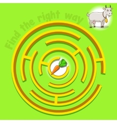Game labyrinth find a way goat vector