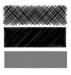 Set of black diagonal strokes patterns vector
