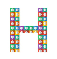 Colorful patterned letter vector