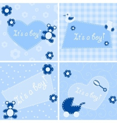 birth announcement cards vector image