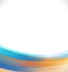Brush paint colorful background brush stroke vector