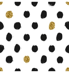 Hand Drawn Dots Seamless Pattern vector image