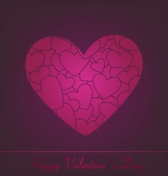 Gift card valentines day vector