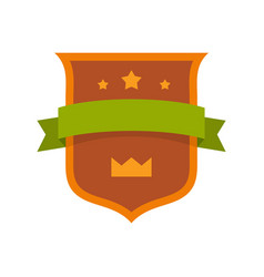 badge crown icon flat style vector image vector image