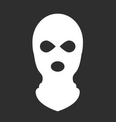 Balaclava or ski mask - symbol of terrorism vector image vector image