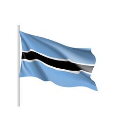 Botswana realistic flag vector