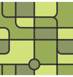 City map seamless pattern vector image