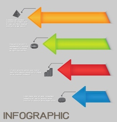 Colorful arrows diagram infographic vector